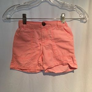 Carters Toddler Girls Shorts SZ 5 Orange